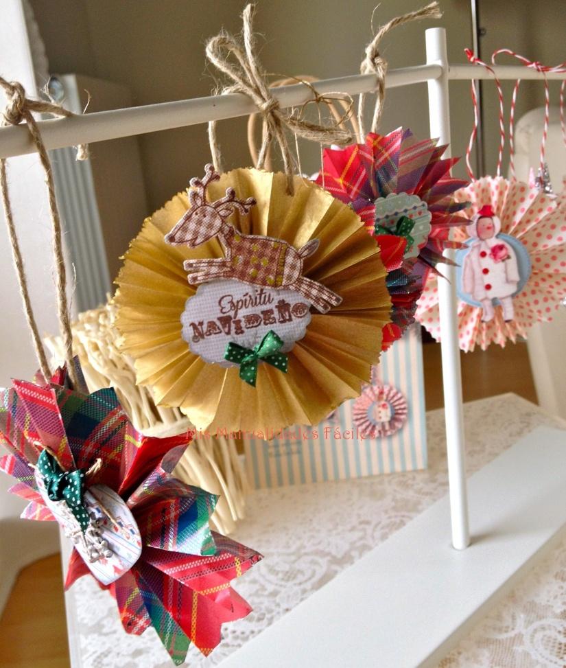 Adornos de Navidad diseñados por La Scrapería de Charly