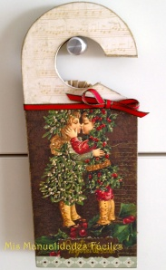 Cuelgapuertas Christmas mistletoe