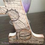 Letra de madera avión MA