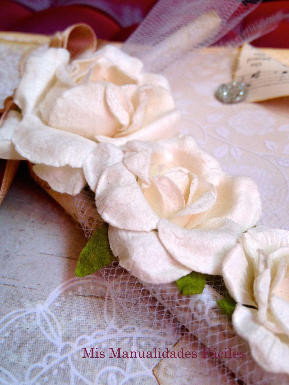 tarjeta de pedida flores blancas