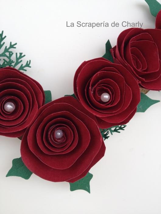 Rosas de papel Guirnalda S. Valentín