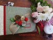 Album de Navidad encuadernado a lomo