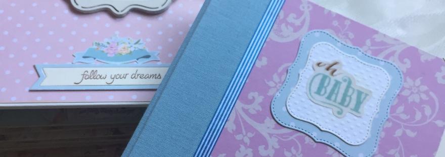 Álbum de bebé con diario